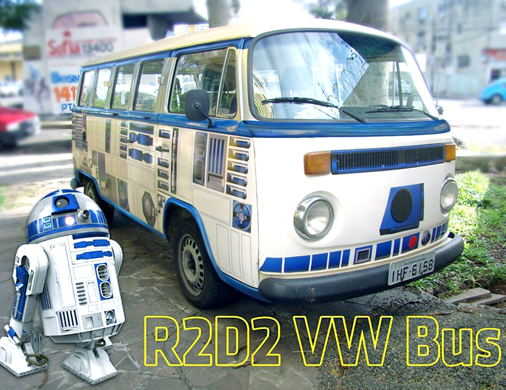 7a092dc8a0e00c This Star Wars retrofitted R2D2 Volkswagen van is just the droid you re  looking for