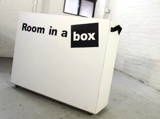 Room in a Box, Indiegogo, pop up bedroom, cardboard bedroom, cardboard furniture, cardboard furnishings, move in 30 minutes, tool free furniture, glue free furniture, recyclable bedroom, recyclable furniture