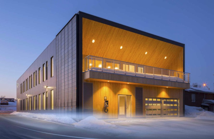 Daylit Stgm Head Office Uses Reclaimed Wood, Solar Power And A