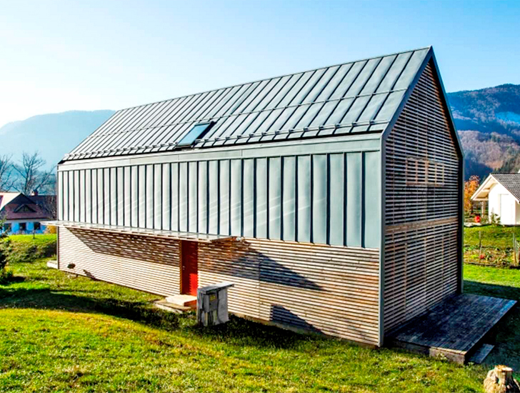 Prefab Solar Powered Home Is A Modern Take On The Traditional Slovenian Farmhouse