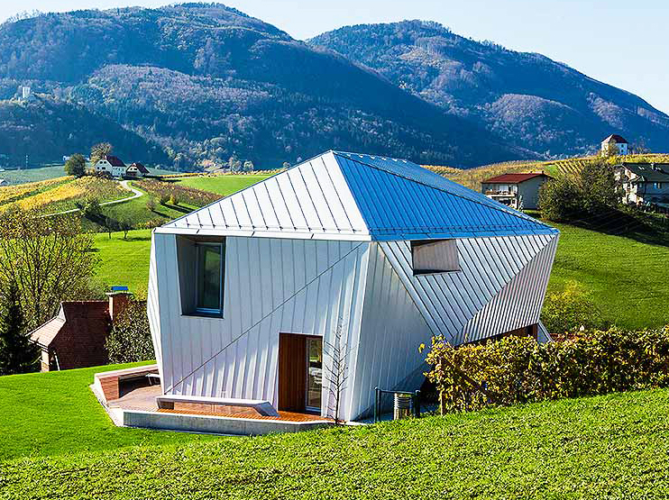 Funky Metal Clad Home Mimics The Patchwork Topography Of Slovenia