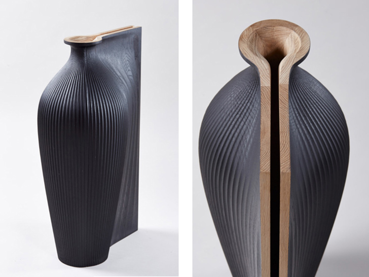 Digitally Fabricated Wooden Vases By Zaha Hadid And Gareth