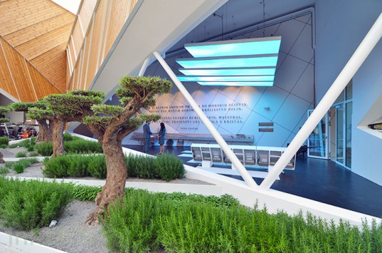 Slovenia pavilion, Milan Expo, Expo 2015, world expo, expo pavilion, SoNo Arhitekti, Slovenian architects, prefab, prefab wood, wooden facade, sustainable wood, sustainable food