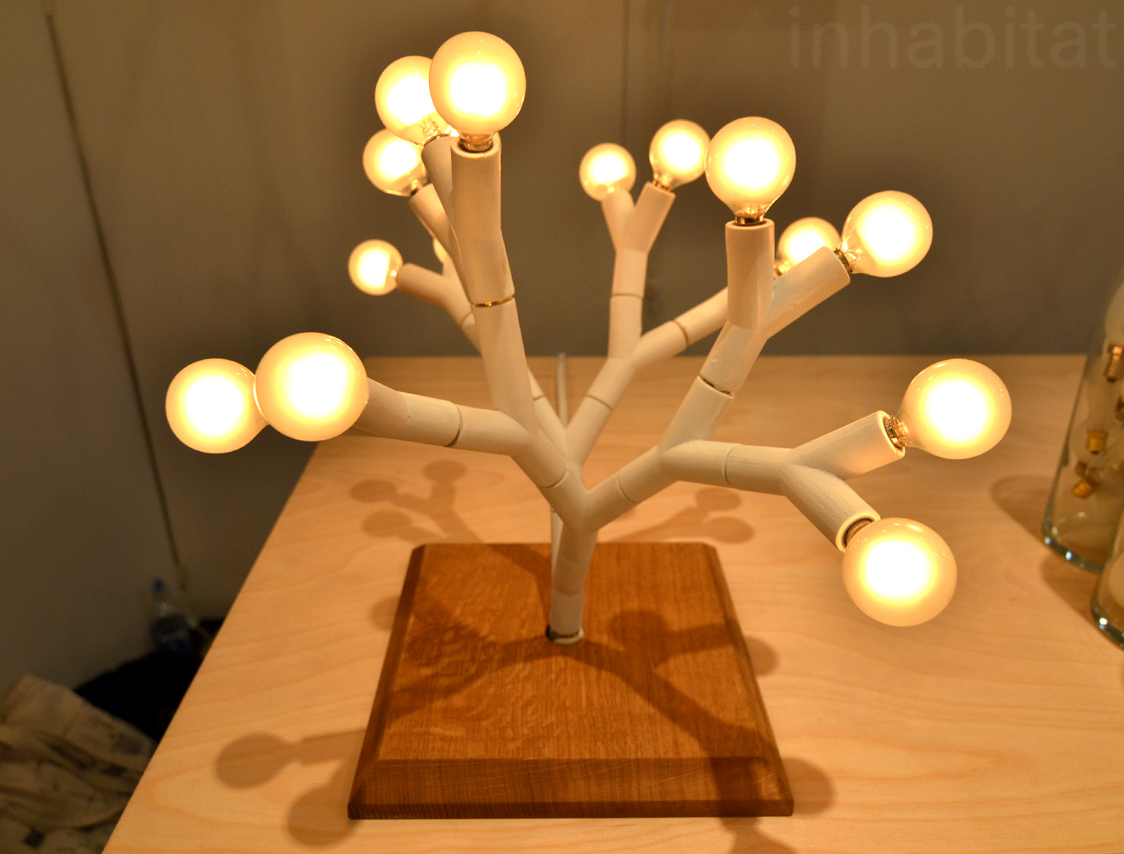 Furniture Design New York splyt's led light trees are made from modular parts – so you can