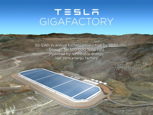 Tesla Gigafactory in Nevado