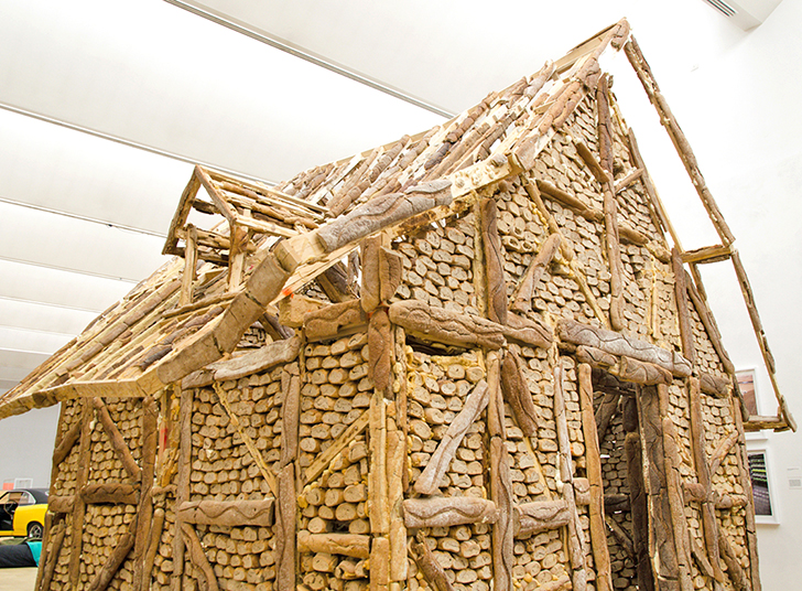 This entire house is built from loaves of bread!