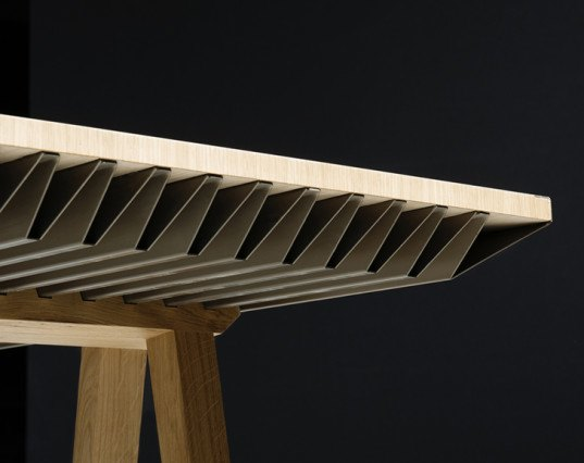 Raphaël Ménard, Jean-Sébastien Lagrange, Zero Energy Furniture, green furniture, energy-efficient table, green table, table design, Milan Design Week, Milan furniture fair, wooden furniture, heating and cooling
