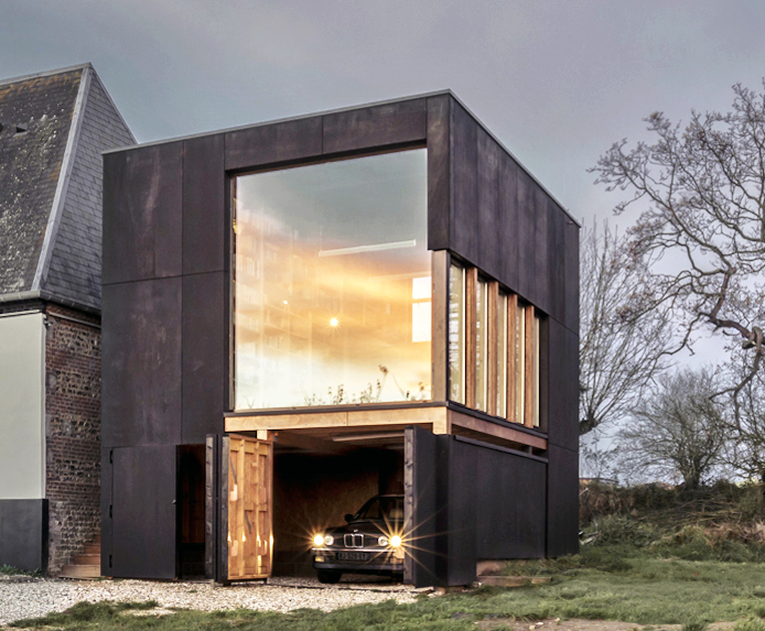 Rural writer's nook overlooks the English channel in northern France