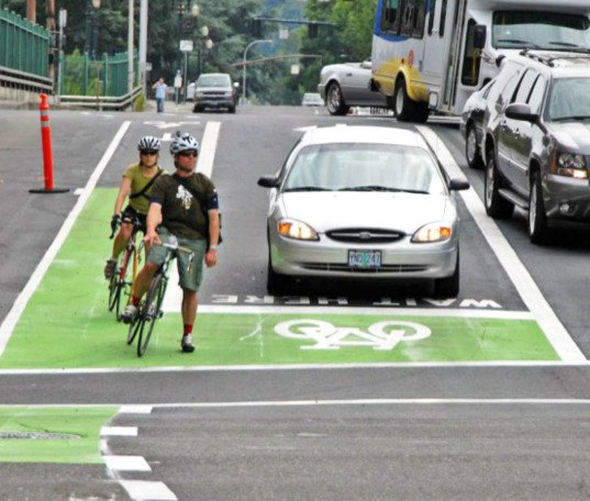 Portland Shuts Down A Car Lane To Make Room For More