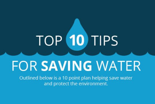 Infographic 10 tips to save water in your home for How to save to build a house