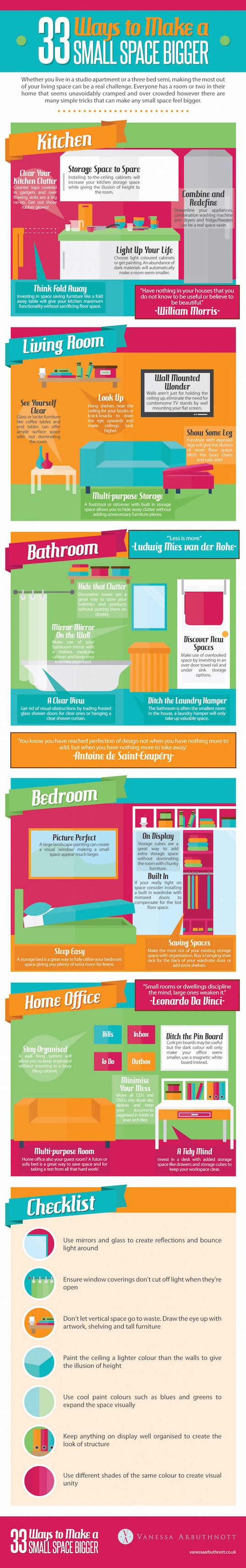 infographic, reader submitted content, Vanessa Arbuthnott, space saving, space saving tricks,