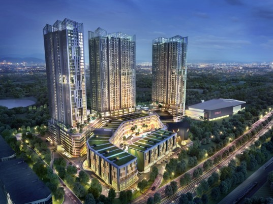 malaysia architecture, ecosky, kuala lampur, luxury apartments, eco-friendly architecture, daylighting, composting, rainwater collection, low concrete usage index, sustainable building