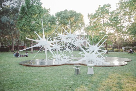 NonScale, Sky Pavilion, Sky by NonScale, ArchTriumph, 2015 Triumph Pavilion, Triumph Pavlion, temporary artwork, pavilion, North Star pavilion, Bethnal Green, Museum Gardens, London