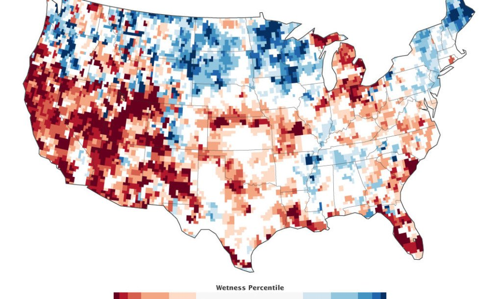 The Whole World Is Running Out Of Water GRACE US Groundwater Map - Us groundwater map