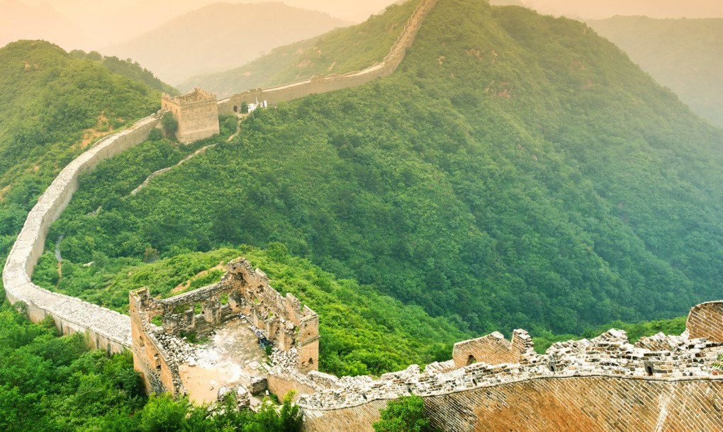 The Great Wall of China is slowly disappearing
