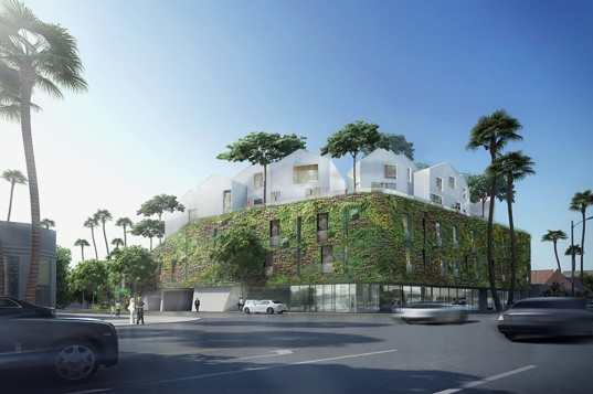 MAD Architects unveil the green-walled 8600 Wilshire, their first residential project in Beverly Hills