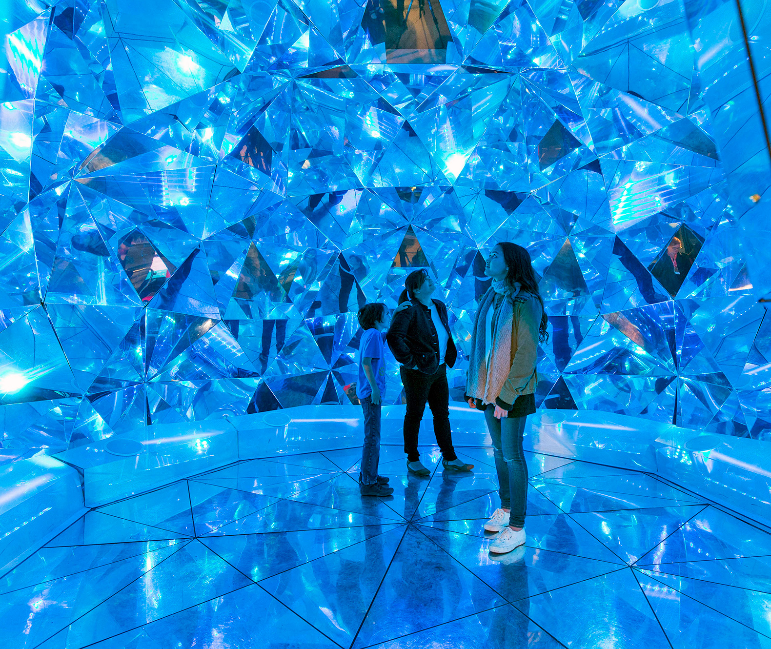 Sydney's mind-blowing 'Light Origami' is a crystal cavern filled with mirrors