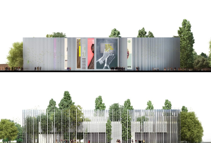 House Of Hungarian Music S Circular Facade Intertwines