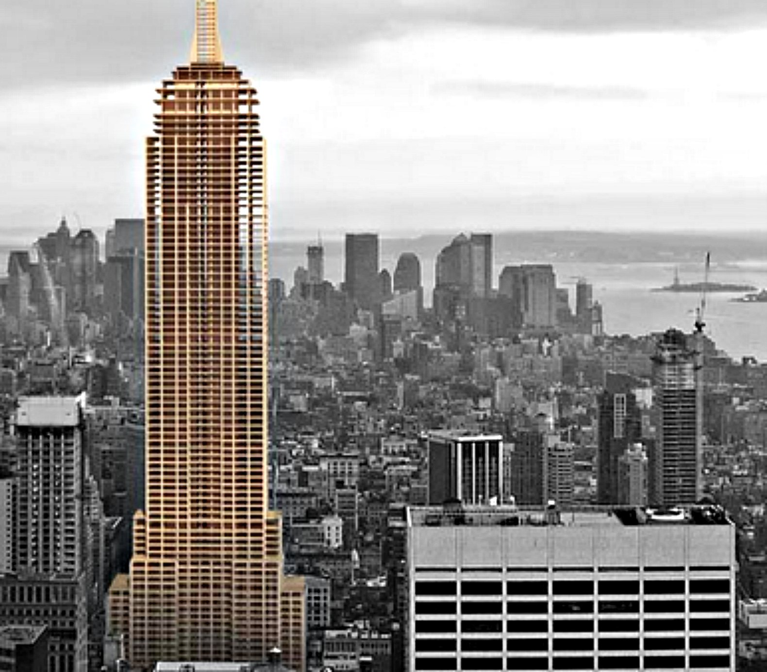 Architect Designs architect builds empire state building replica out of wood