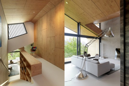 Sono Architects, Mountain-View House, Mountain-View House by Sono Architects, Zilberstube, natural materials, Austrian Alps, panoramic views, gabled, gabled roofs, glazed end wall, Austria
