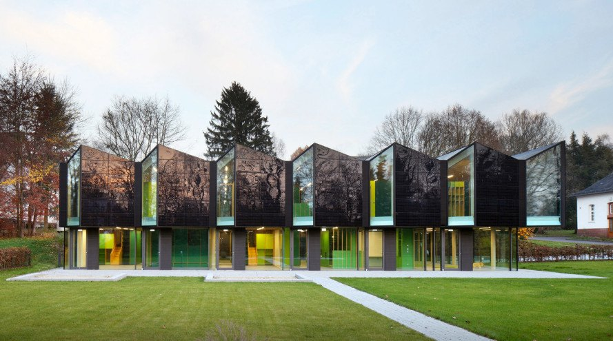 Home Design: Saw-tooth Roofed Nursery Blends In With The Landscape In A