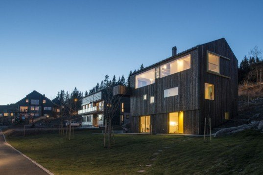 green design, eco design, sustainable design, timber clad home, Schjelderup Trondahl Arkitekter, House Linnebo, Oslo, pitched roof