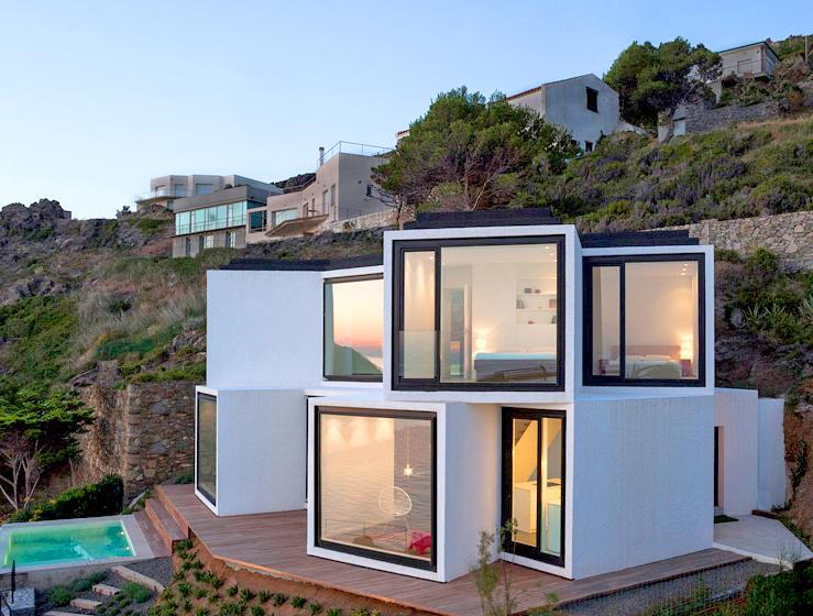 Sunflower House\'s quirky cube cluster soaks up the Mediterranean ...