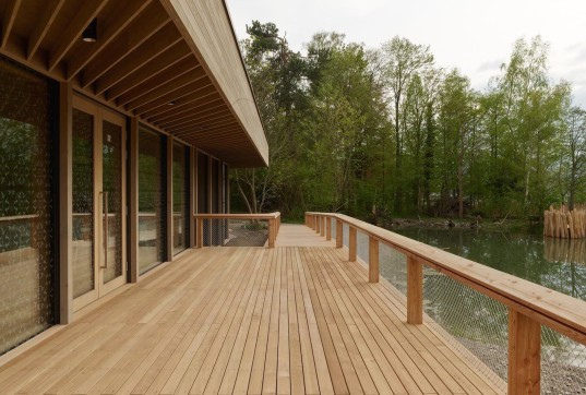 Swiss Ornithological Institute, compressed earth, birds, bird-watching, eco-design, ecological building material, rammed walls, nature, conservation, ornithology, Switzerland, Swiss architecture