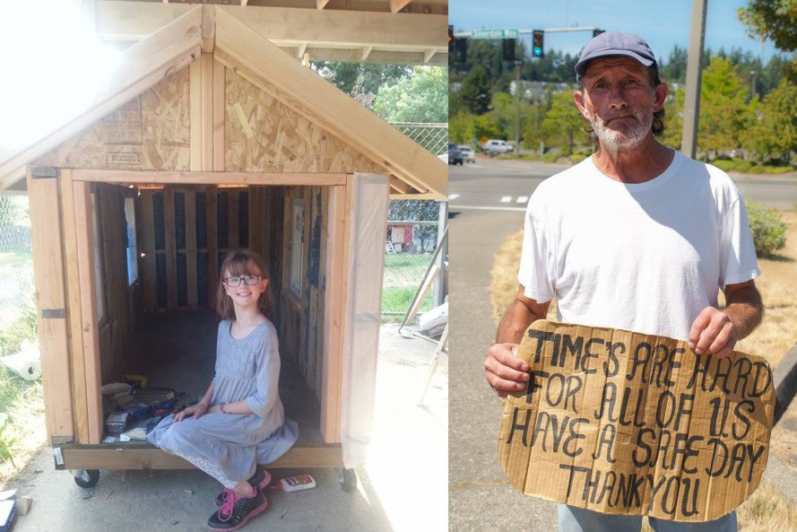 9 Year Old Girl Builds Tiny Homes From Scratch For The Homeless