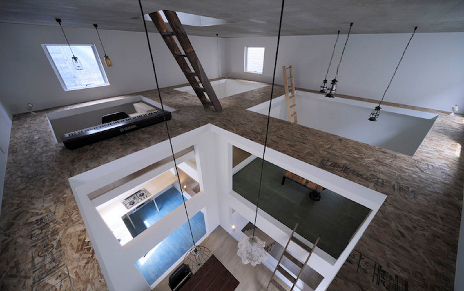 japanese home office. Couple Uses Ladders To Navigate Their Tokyo \u0027Ninja\u0027 House Japanese Home Office