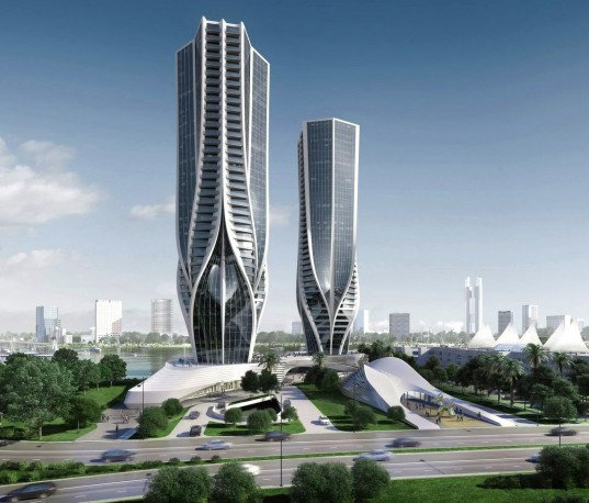 Zaha Hadid, Australia, Gold Coast, Mariner's Cove, tapered buildings, Sunland Group, Hadid skyscrapers, mixed use,