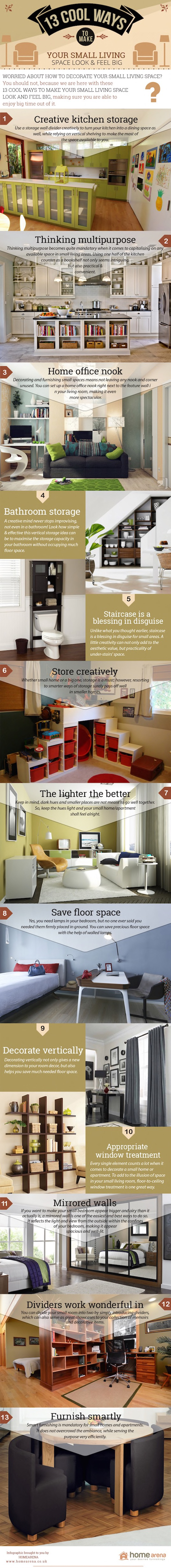 infographic, Home arena, space saving tips, space saving, small apartment, reader submitted content