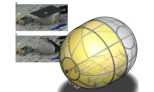 green design, eco design, sustainable design, lunar dwelling, inflatable moon dwelling, MIT lunar design, moon exploration, inflatable pod