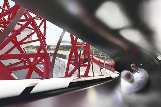 Bblur Architecture, ArcelorMittal Orbit, Anish Kapoor, Queen Elizabeth Olympic Park, recycled steel, world's longest and tallest tunnel slide, tunnel slide, slide, London, ArcelorMittal Orbit slide