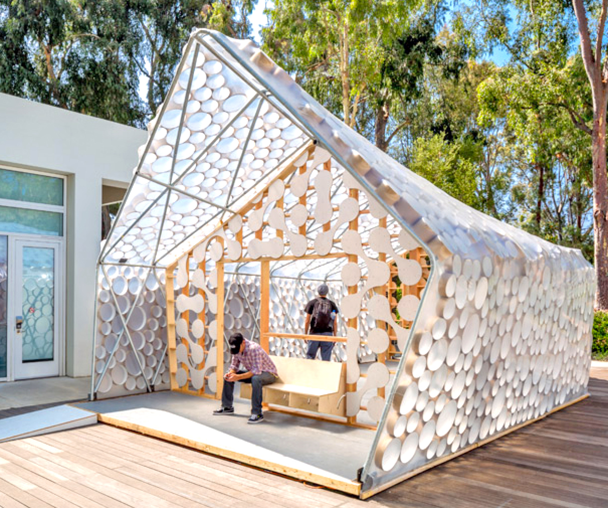 Recyclable materials inhabitat green design for Waste material in home