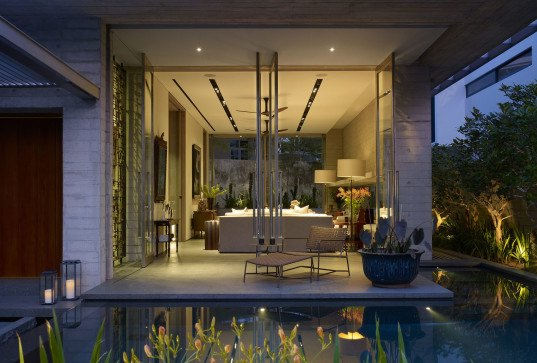 Chiltern House, Chiltern Drive, Singapore, WOW Architects | Warner Wong Design, concrete, raw timber, swimming pool, family house, green architecture, sustainable building