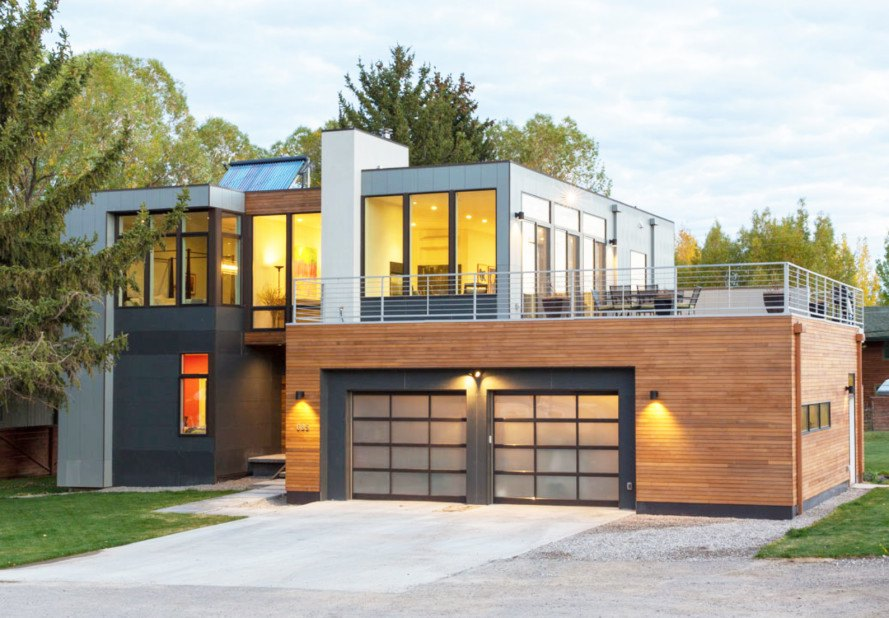 Modern Open Plan Home In Jackson Hole Reduces Construction