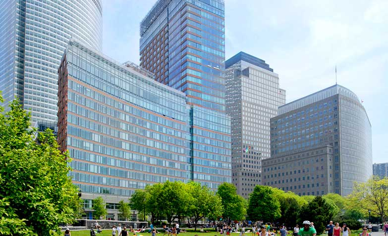LEED Gold Riverhouse's double glass curtain-wall provides drama as well as energy savings
