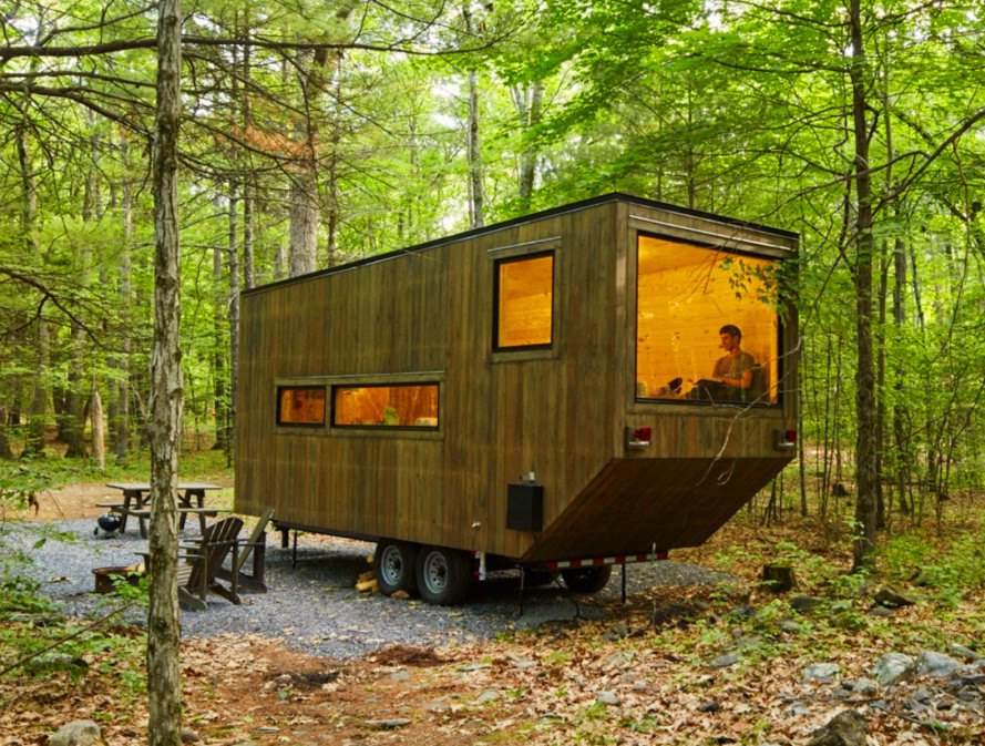 Tiny House, TIny Home, Tiny Cabin, Airbnb Tiny Home, Getaway, Getaway startup, Getaway Harvard startup, tiny house by Harvard students, Harvard, Harvard student architects, Harvard Innovation Lab, Millennial Housing Lab, off grid, tiny house, microhomes, tiny house living, tiny homes, cabin, Clara, Clara tiny house,