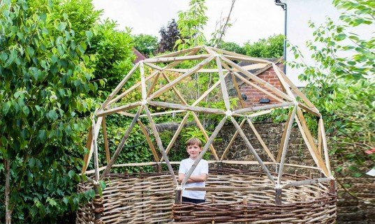 the hubs, kickstarter, geodesic dome, diy kit, diy geodesic dome, backyard