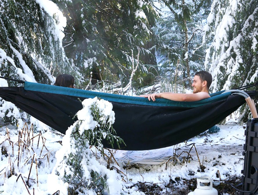 Hydro Hammock turns a relaxing camping trip into a hot tub party ...