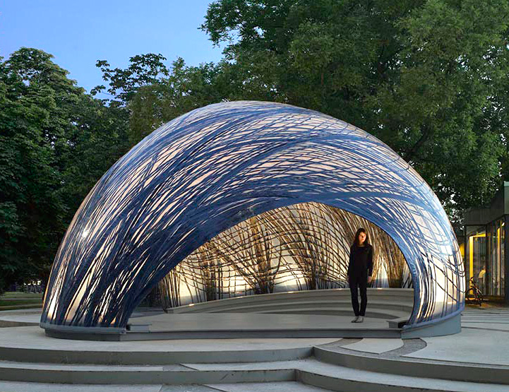 ICD and ITKE's new lightweight pavilion mimics the structure of water  spider's underwater nests