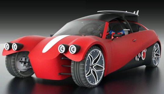 local motors, 3d-printed cars, 3d-printed vehicles, project redacted, Kevin Lo, 3D-printed car parts, electric cars, electric vehicles, custom cars, custom vehicles, microfactories