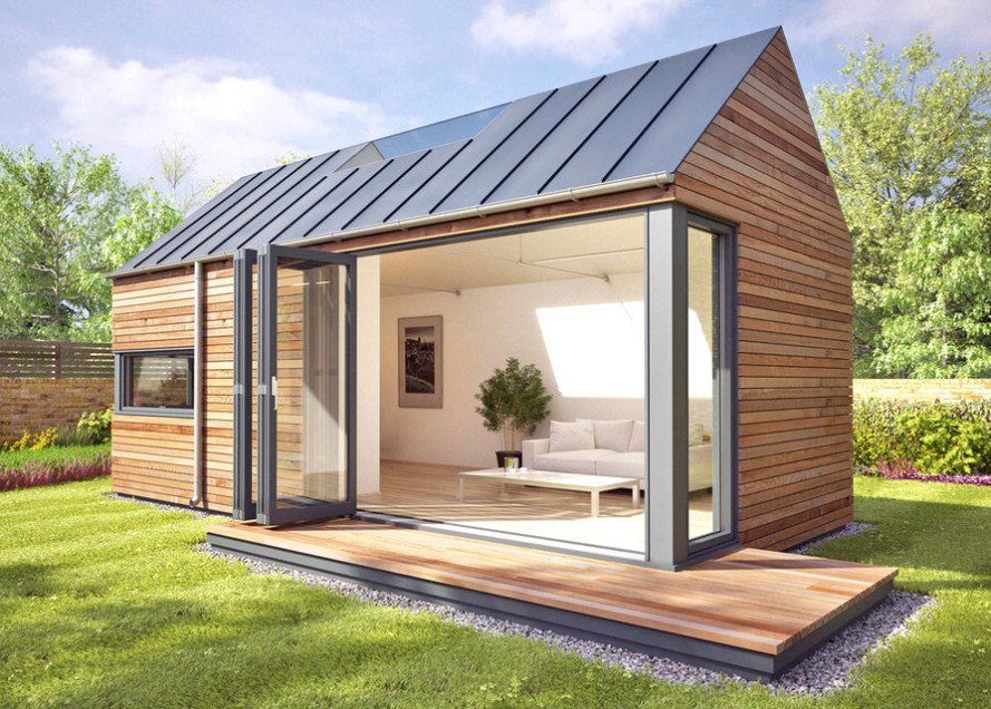 Pod space 39 s pop up modular spaces can add a garden studio for Garden studio interiors