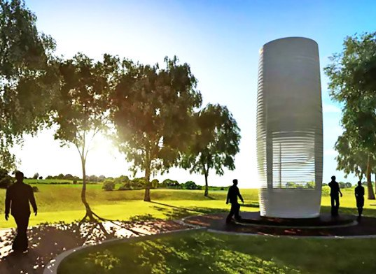 The world's largest electronic vacuum cleaner in Rotterdam will suck up smog and turn it into jewelry