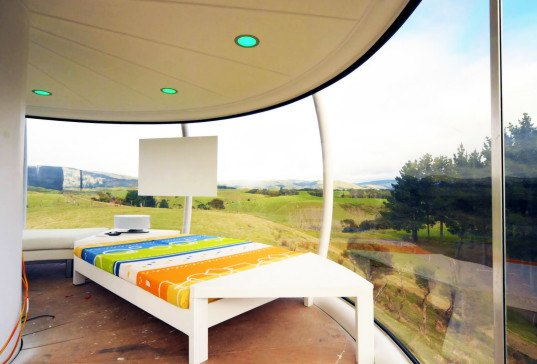 solar power, Android, app-controlled electronics, off-grid tower home, The Skysphere, New Zealand, Jono Williams, clean tech, green design, sustainable design, eco-design, renewable energy, man cave, solar-powered man cave, Skysphere tower, Skysphere man cave,