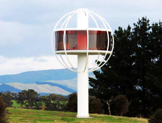 Man Cave New Zealand : Insane skysphere is a solar powered man cave with voice