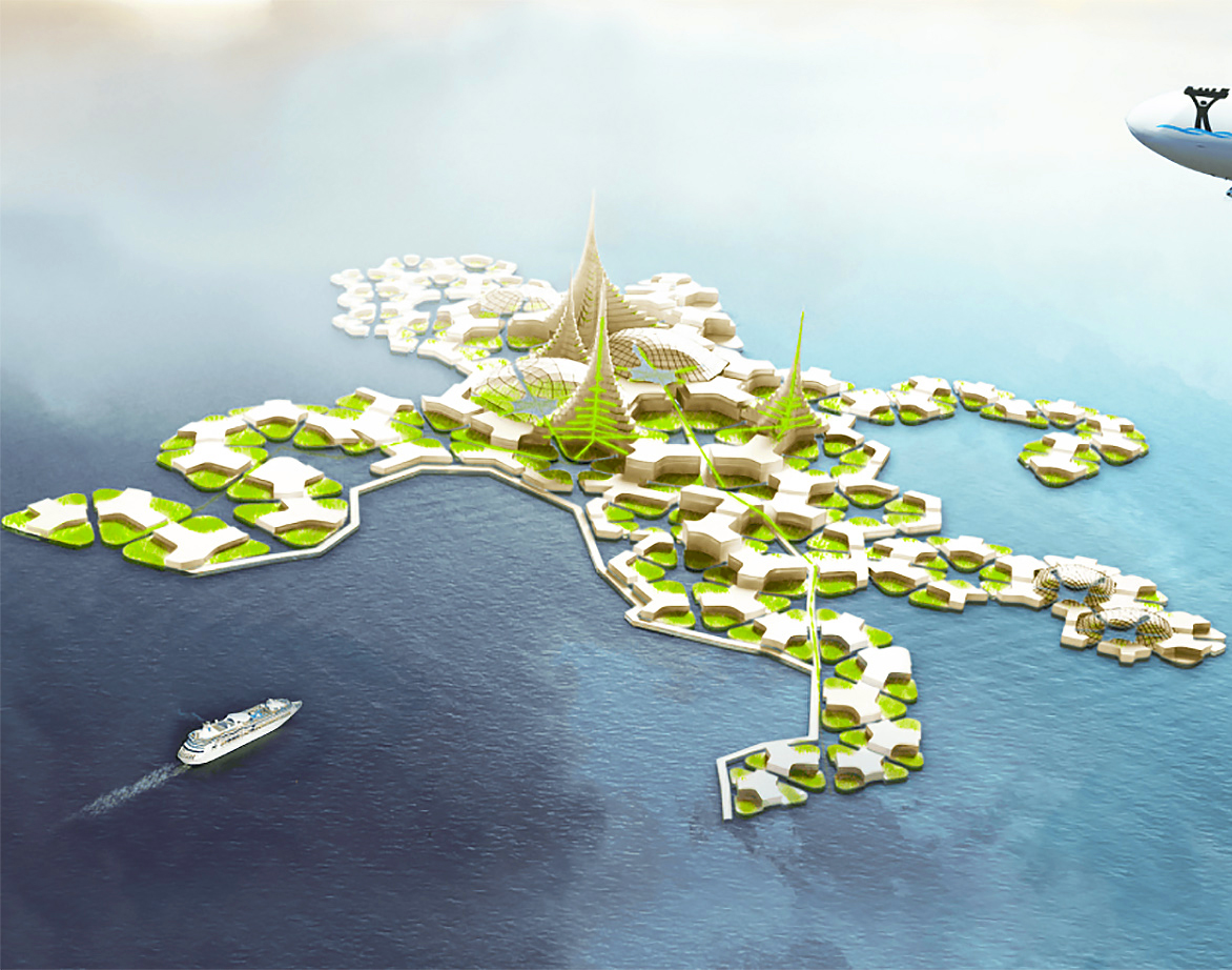 Plans for world's first self-sufficient floating city advance to next phase