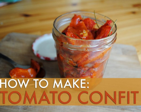 recipe, cooking, seasonal, tomato, confit, vegetable, DIY, kitchen, how to make tomato confit, tomato confit recipe, seasonal summer recipe, farmer's market recipe, DIY tomato confit