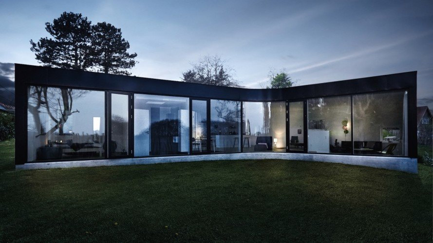 Villa One is an affordable prefab home that accommodates a